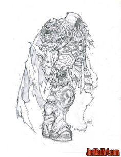 Darksiders concept art: War with a cape