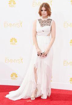 Kate Mara in J. Mendel, 2014 Emmys