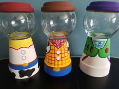 Toy story candy jars centerpieces