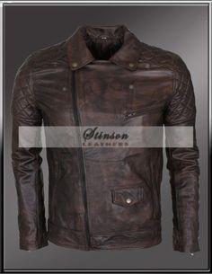 MEns Brando Vintage look Leather JAcket http://www.stinsonleathers.com/product/men-brando-style-motorbike-leather-jacket/