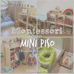 Montessori en una casa pequeña  es perfectamente posible. De hecho no hacen falta muchos metros para tener un buen ambiente preparado... Montessori Ikea, Montessori Education, Montessori Classroom, Montessori Toddler, Montessori Materials, Montessori Activities, Kids Education, Baby Boy Rooms, Baby Room