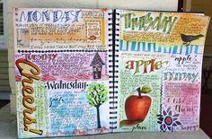 very inspiring mixed media painter.  Love her journals