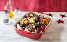 Roast veg with feta