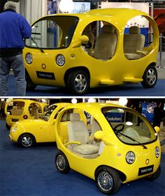 Amphibious concept car built and named for the 2008 Detroit Auto Show. Electric Car Concept, Electric Cars, Kia Soul, Ford Mustang, Tricycle Bike, Nissan, Microcar, Weird Cars, Strange Cars