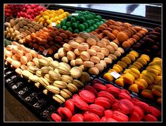 bed of macaroons...yum!