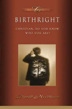 """Birthright: Christian, Do You Know Who You Are? (Classic Critical Concern) by David C. Needham,- David Needham asks """"Christian, do you know who you are?"""" in this remarkable and easy-to-understand rerelease of his book about the Christian's birthright. He offers fresh insight into the theological problem of Christian identity, biblically based teaching, and a challenge for personal enrichment and further Bible study."""