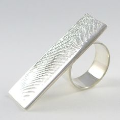 'Rockpool' a cuttlefish cast sterling silver statement ring available in my Etsy shop.