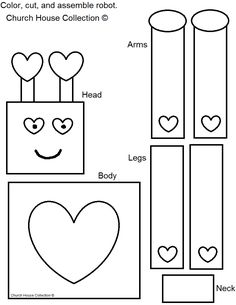 Church House Collection Blog: Robot Valentine Craft For Kids