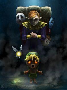 The best of the best: Fan art of Zelda's Majora's Mask. Best of: Zelda Majora's Mask Fan Art The Legend Of Zelda, Link Zelda, Deco Gamer, Majora Mask, Creepy Masks, Avatar, The Dark One, Video Game Art, Video Games
