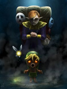 Is it just me, or is this picture way creepier than it should be? Seriously... still pinning it, though! P.S. I cried when Link was cursed and transformed into a Deku Scrub. =.(