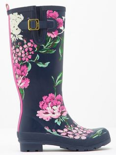 Joules Women's Welly Print Rain Boots