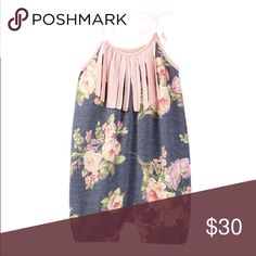Adorable Floral Fringe Romper! New! 0-3 Months! One Pieces Bodysuits