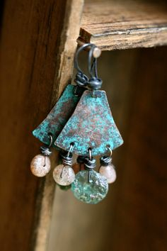 Guijarros earrings Rustic Roman by Tribalis on Etsy, $36.00