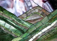 stained glass mountain | Mountain Scene Stained Glass Patterns