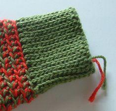 Wristband ribbing done in slip stitch #crochet #slip_stitch #ribbing