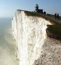 Belle Tout or Bell Toot - famous #lighthouse near Eastbourne, #Sussex. http://dennisharper.lnf.com/