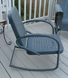 Bunting Glider Company Metal Porch Chair Vintage