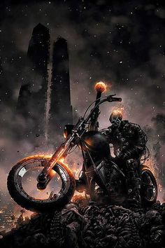Ghost Rider Halloween costumes are always hot (pardon the pun) among comic book readers of all ages. Ready to see some Ghost Rider Halloween costume ideas? Comic Book Characters, Comic Book Heroes, Marvel Characters, Comic Books Art, Comic Art, Marvel Comics Art, Marvel Heroes, Captain Marvel, Captain America