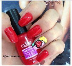 rojo Makeup Designs, Nail Designs, Holiday Nail Art, Heart Nails, Creative Nails, Mani Pedi, Nail Arts, Toe Nails, How To Do Nails