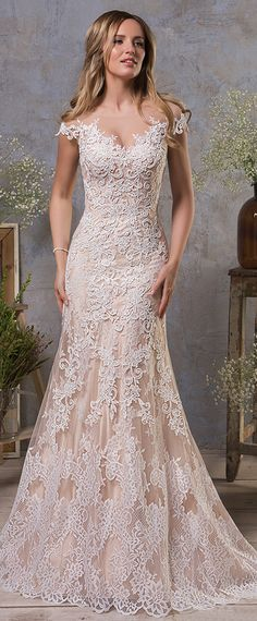 amelia sposa fall 2018 bridal cap sleeves illusion bateau sweetheart  neckline full embellishment champagne color a line wedding dress sheer  button back ... 814d427d5932