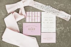 Pretty pink invitation suite. Phoot by Feather and Twine Photography. www.wedsociety.com #wedding #paper