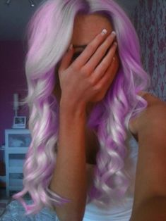 White and Purple hair