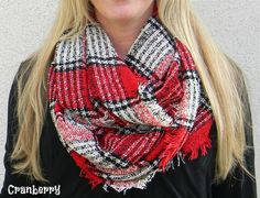 You will Love these oversize plaid infinity scarves! They're the perfect way to stay cozy and stylish this fall. They're high quality, the 100% acrylic material is soft and comfy, and they come in 9 gorgeous fall colors! COLORSBlackBlushCharcoal (Dark Gray)CranberryNavyPomegranateRustSmoke (Light Gray)Plum