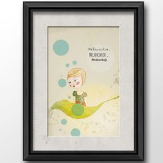 #girl #leaf #melancholy #illustration shop it at DaWanda (http://de.dawanda.com/product/64819095-Druck-Melancholie)