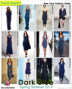 Dark Blue Color Fashion Trend for Spring Summer 2014 at New York Fashion Week. More Blue ColorFashion Trend for Spring Summer 2014. More Fa...