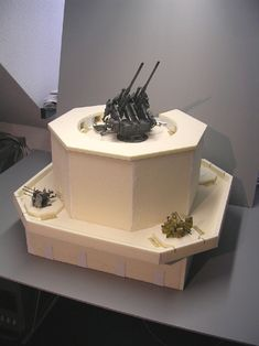Flak Tower, Military Modelling, Military Diorama, Fortification, Luftwaffe, Bunker, Dremel, Model Trains, Scale Models