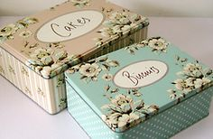 shabby cookie tins