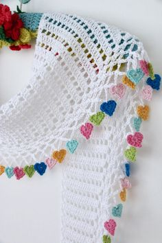 Cherry Heart crochet patterns to buy and to downlo…Latest Ideas For Crochet Designs Cherry Coronary heart crochet patterns to purchase and to obtain at no cost. Free Crochet Patterns to Decorate Your Home for the Holidays including stocking, orname Poncho Crochet, Mode Crochet, Crochet Scarves, Crochet Motif, Easy Crochet, Crochet Flowers, Crochet Heart Blanket, Crochet Hearts, Crochet Baby