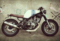Yamaha Diversion Street Tracker by Wrench Kings 1 Moto Street Tracker, Tracker Motorcycle, Motorcycle Tires, Scrambler Motorcycle, Moto Bike, Bobber, Yamaha Cafe Racer, Cafe Bike, Flat Tracker