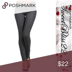 ❤️Charcoal Jeggings ❤️ Nothing says winter fashion like jeggings! These are super cute and oh sooo stylish! Pair them with a chunky sweater and boots!  Comes in platinum, charcoal gray, wine, and purple! Don't miss out!⭐️Small measures 26 inches in the waist ⭐️Medium measures 28 inches in the waist⭐️Large measures 30 inches in the waist These have lots of stretch! Pants
