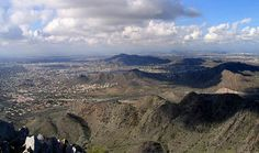 Piestawa Peak, in Phoenix, Arizona...it was a very popular hike, so we would try not to go a peak times.
