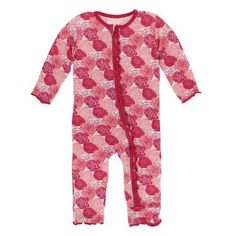 32208b893 KicKee Pants Little Girls Print Muffin Ruffle Coverall with Zipper - Roses
