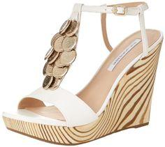 Diane von Furstenberg Women's Stefy Wedge Sandal,White, Diane von Furstenberg $112.50 http://www.amazon.com/dp/B00ETTZ4TU/ref=cm_sw_r_pi_dp_C-4jub1YMTE8R