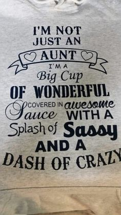 I'm not just an Aunt....
