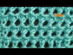 Tricot Merveilleux point tricot / Maravilloso punto tejido a dos agujas - YouTube