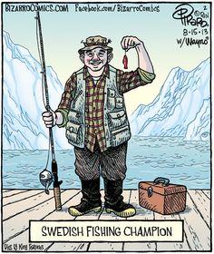 Bizarro Cartoon for Swedish fish :) Bizarro Comic, Funny Memes, Hilarious, Funny Videos, Swedish Fish, Corny Jokes, Scandinavian Countries, Cartoon People, Just For Laughs