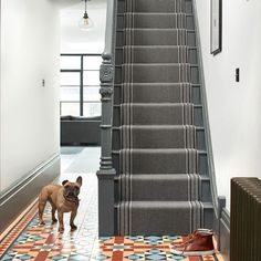 Create the perfect first impression in a hallway with a smart flatweave stair runner such as 'Pelham Slate' by The company… Rug Runners, Stair Runners, Rugs On Carpet, Carpets, News Design, New Homes, Stairs, Take That, Instagram