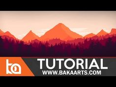 Flat Landscape Photoshop Tutorial for Beginners - YouTube