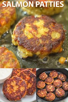 Salmon Patty Recipe - This Salmon Patty Recipe is true, tested, and loved. The patties are crispy on the outside and tend - Fish Recipes, Seafood Recipes, Cooking Recipes, Healthy Recipes, Gourmet Recipes, Barbecue Recipes, Meatball Recipes, Cooking Tips, Healthy Snacks