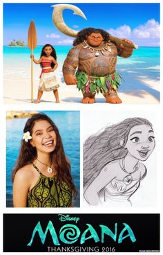 First official look at Moana and Maui released; Moana to be voiced by fourteen-year-old Auli'i Cravalho