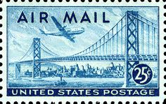 San Francisco - Oakland Bay Bridge Postage Stamp