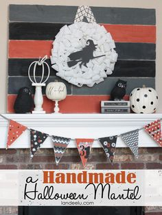 Spooky and fun Halloween decoration ideas for your mantel! Tons of inspiring Halloween mantels to get your creativity going this Halloween! Halloween Yard Art, Halloween Mantel, Fun Halloween Crafts, Halloween Activities For Kids, Halloween Projects, Easy Halloween, Holidays Halloween, Halloween Decorations, Diy Projects