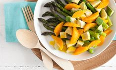 This Asparagus, avocado and orange salad is a healthy and easy dish to add to your Christmas day menu!