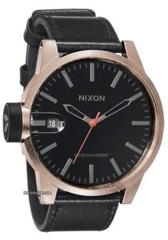 Nixon Date display Swiss Movement Watch (Men Watch) Watches For Men, Nixon Watches, Discount Watches, Dream Watches, Pocket Books, Watch Brands, Antique Copper, Seiko, Casio