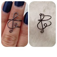 Treble Clef Mid/Knuckle Ring by shopenvyme2013 on Etsy, $3.00. Use coupon code: PINTEREST to receive 20% off your purchase.