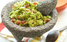 Slightly sweeter than the canned variety you might be used to, green garbanzo beans have a fresh flavor similar to peas. Serve this extra-green guac with raw veggies and baked tortilla chips or baked whole grain pita chips.